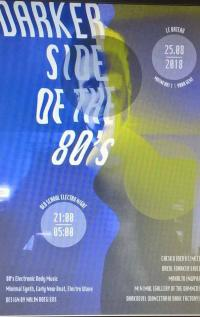 13/08/2018 : DJ DREXL (Darker Side Of The 80s) - 'Be there or be a white sock stuck in a Crock!'